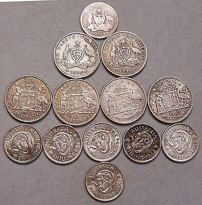 Lot Of Australian Silver Coins * Good Coins *