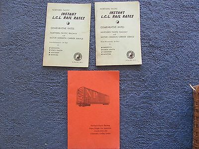 Vintage Lot Of 3 Northern Pacific Railway 1960's Inspection/Shipping  Booklets