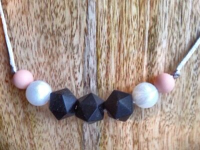 Chic Teething Necklace - baby shower, beads, sensory, breastfeeding, babywearing