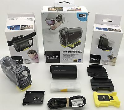 Sony Action Cam HDR-AS15 Wi-Fi SteadyShot HD 1080P 120fps Bundle !