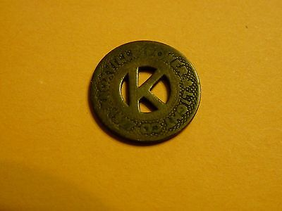 1927 Knoxville Power & Light Co. Token - Good For One Fare