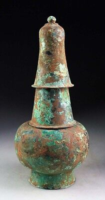 *SC*RARE LARGER THREE-PIECE DONG SONG CULTURE BRONZE VESSEL, ca. 200 BC!