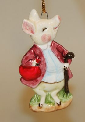 1983 Beatrix Potter Schmid Japan Hanging Christmas Ornament Pigling Bland Pig