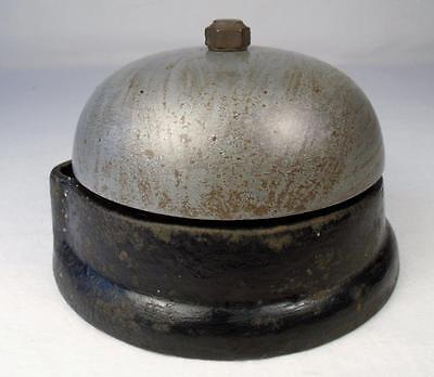 Antique electric door bell cast iron base 1800s