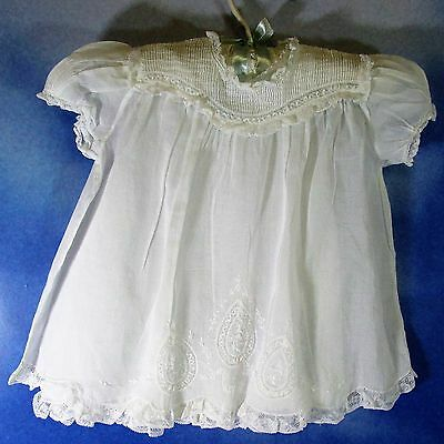 EF-Vintage Feltman Brothers white cotton dress + slip doll baby