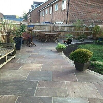 Truffle Premium Indian Sandstone Mixed (19.5m2) Patio Paving Slabs Stone