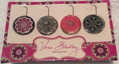 Vera Bradley Set Of 8 Paper Clips New In Package Retired Fall 2010 Collection