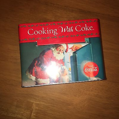 Coca Cola Cooking with Coke Recipe Cards Tin 78ct Collectors NWT