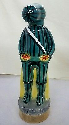 EZRA BROOKS Hopi Kachina Rattlesnake Watermelon 1980 Whiskey Decanter Bottle