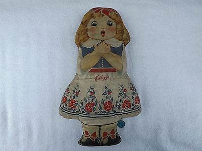 Vintage Kellogg's Cereal Cloth Advertising Doll - Goldilocks