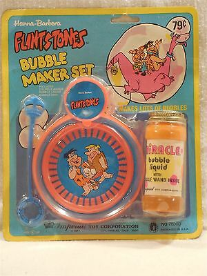 Flintstones 1977 Imperial Bubble Maker Set on Original Card
