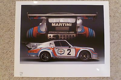 1974 Porsche 911 Carrera RSR Showroom Advertising Sales Poster RARE Awesome L@@K