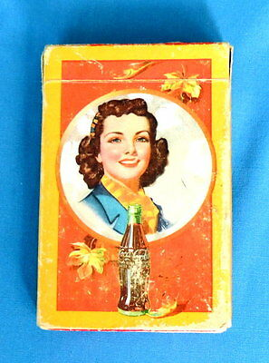 Coca Cola Vintage Playing Cards - Autumn Girl 1943