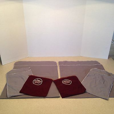 Lot Of 6 Silver Anti Tarnish Bags Of Various Sizes 4 Fold Over 2 Zippered