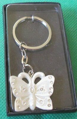 "BUTTERFLY metal keyring key chain keychain 1"", Mint in Box"