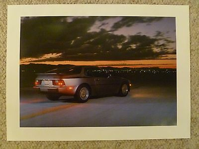 1985 Porsche 944 Coupe Showroom Advertising Sales Poster RARE!! Awesome L@@K