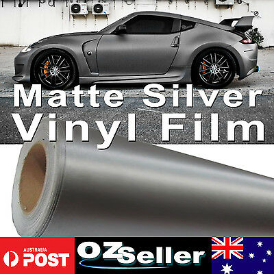 1.51M x 20M Matte Silver Vinyl Car DIY Wrap Sheet Film Sticker Decal Bubble Free