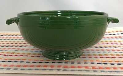 Vintage Fiestaware Forest Green Covered Casserole Base Fiesta 1950s NO LID
