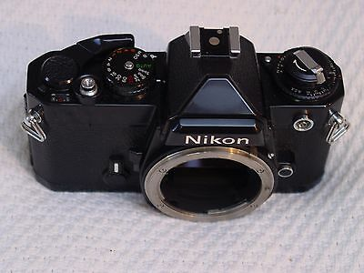 Nikon FE 35mm SLR Camera Body With Original Box & MD-11 Drive In Excellent Cond