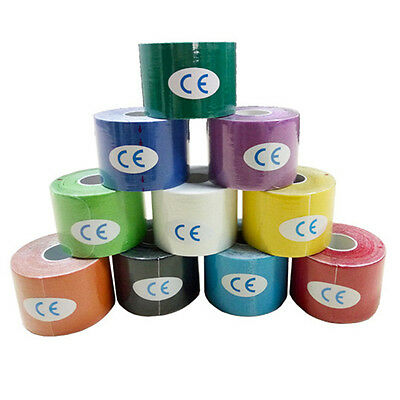 "0.98""*1.97"" Size One Roll Elastic Kinesiology Sports Tape Muscle Pain Care"