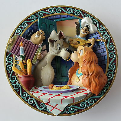 Disney Lady And The Tramp 3D Plate & Box Numbered + Certificate Of Authenticity