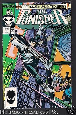 The Punisher #1 Signed by Gerry Conway & Jim Shooter W/COA (July 1987, Marvel)