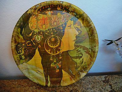 Vintage Art Nouveau Mucha Serving Tray,wth.mucha Girl,bamboo?