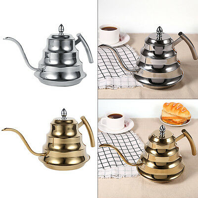 1.2L Capacity Stainless Steel Gooseneck Coffee Drip Kettle Pot For Coffee & Tea