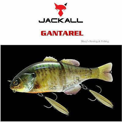 Jackall Gantarel 160mm floating segmented Cod Barra Lure;RT Ghost Gill