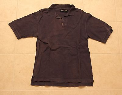 Dockers Vinatge Men's Polo Rugby Shirt Size Large Dark Blue Navy Faded Cotton