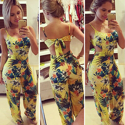New Women Sleeveless Jumpsuit Romper Trousers Bodycon Party Clubwear Playsuit