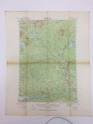 VTG 1940 State Of Maine USGS TOPOGRAPHICAL MAP SEBEC LAKE BROWNVILLE  MILO ME