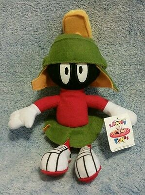 """VINTAGE MARVIN THE MARTIAN 10"""" PLUSH DOLL, Looney Tunes, 1995 Ace"""