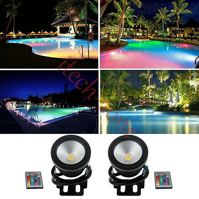 Underwater Fountain Flood Party Lights RGB Led Pool Lamps+Remote IP68 1/2/3/4PCS