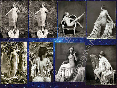8 Risque Postcard Vintage Victorian Reproduction Photos On 6 x 4 Gloss Paper