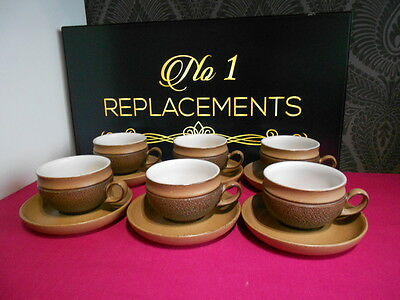 6 x Denby Cotswold Tea Cups and Saucers Last 2 Sets Available