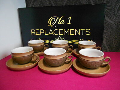 6 x Denby Cotswold Teacups and Saucers 2 Sets Available