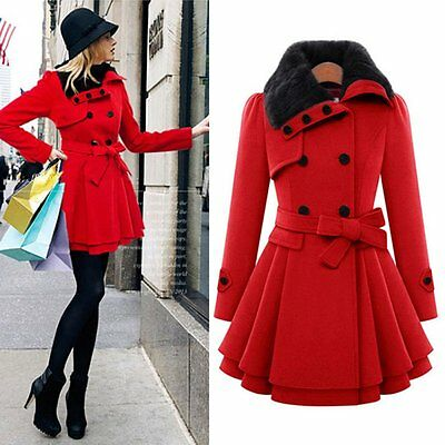 Winter Women Warm Slim Coat Jacket Thick Parka Lady Overcoat Long Outwear AU