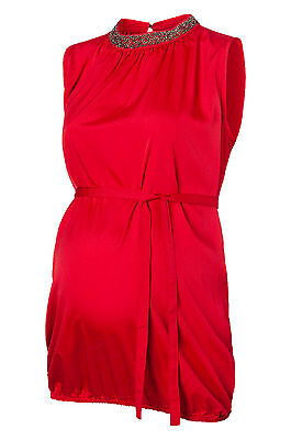 Red Maternity High Neck Top Blouse Was £35 now £10