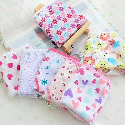 Baby Kids Girls Underpants 6pcs Soft Cotton Panties Child Underwear Short Briefs
