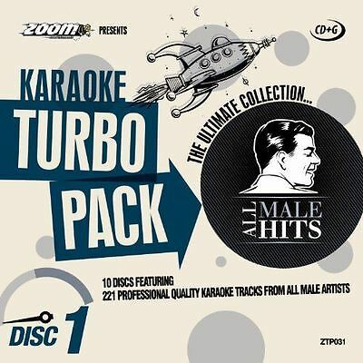 Zoom Karaoke Turbo Pack All Male Hits 10 Disc CD + G Pack Set New Sealed