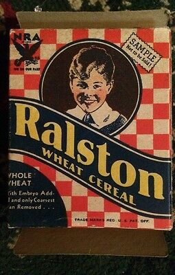 Vtg 1930's Ralston Wheat Cereal Sample Box Made in USA