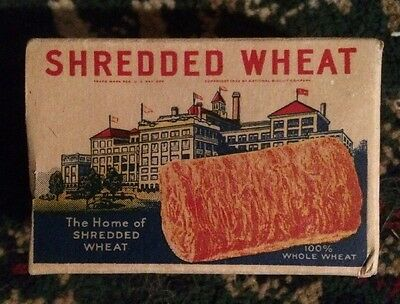Nabisco Shredded Wheat Sample Cereal Box 1937 Complete Premium Offer