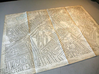 110] Detailed old OS mapping London Battersea, Clapham, Lambeth, 1894