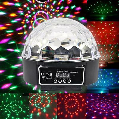 LED RGB Crystal Magic Ball 2X DMX512 Disco Stage Lighting Digital  Effect Light