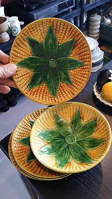 Lot Assiettes Barbotine Mais Vintage Art De La Table Cuisine Collection