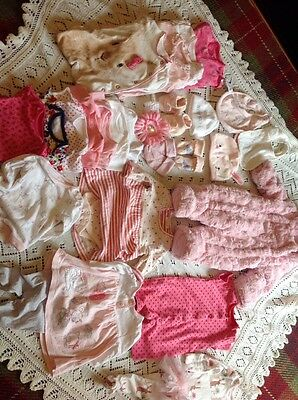 baby girls clothes 0-3 months ,Bundle. 27 Items.