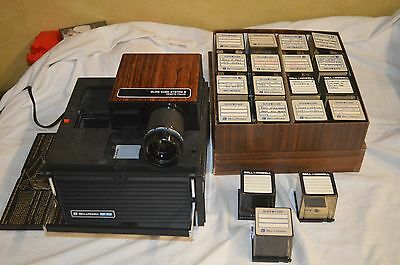Bell & Howell RF60 Slide Cube System II Projector w/ box cubes and slides