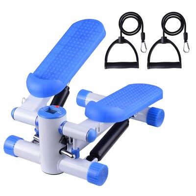 Aerobic Exercise Mini Stepper Machine Workout Fitness Air Stair Climber Blue