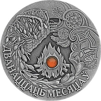 Belarus 2006,THE TWELVE MONTHS Fairy tale, 20 rubles, 1 oz Silver, Crystal